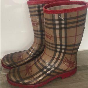 Burberry Plaid rainboots